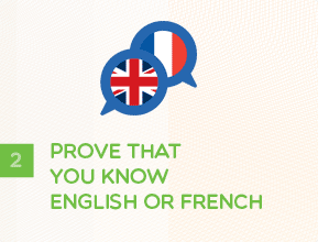 Step 2 - Prove That You Know English or French
